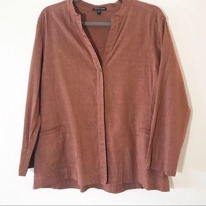 Eileen Fisher Terra Cotta Lightweight Jacket Large